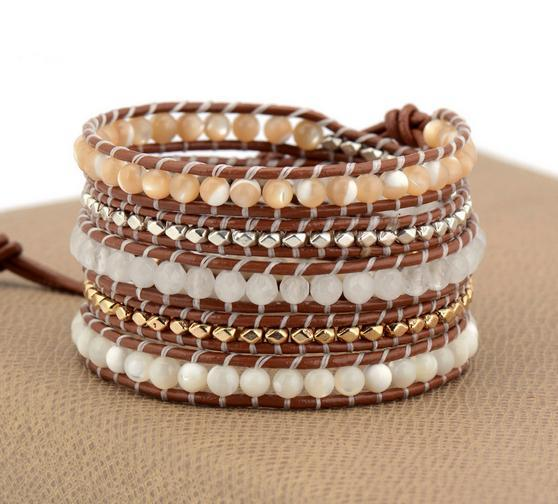 Bat-Tseeyon Leather Weaving Wrap Bracelet
