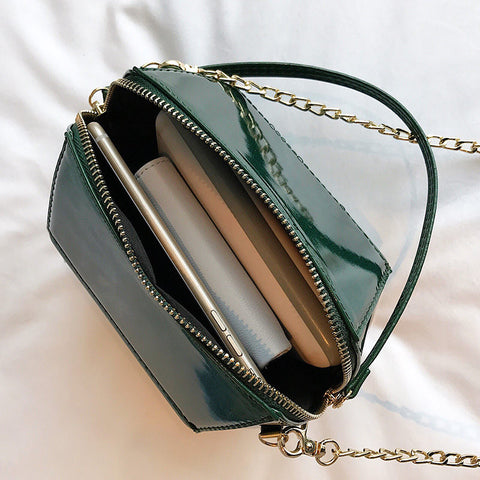 Image of Godelive Leather Long Chain Tote Handbag