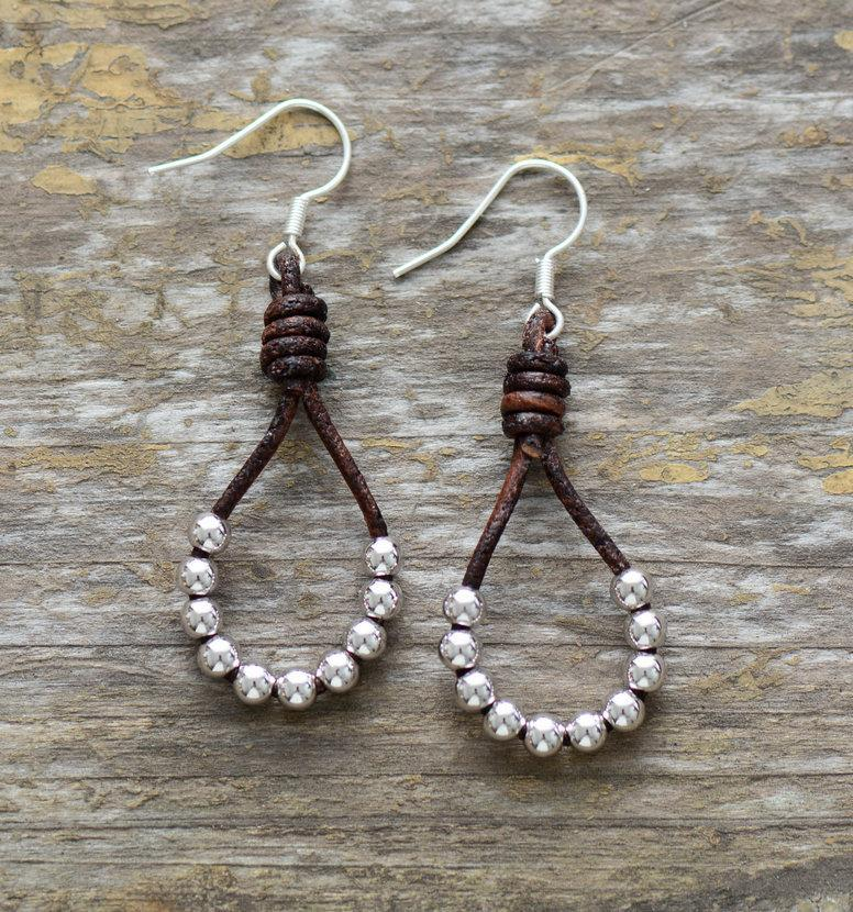Afton Silver Color Beads Dangle Earrings