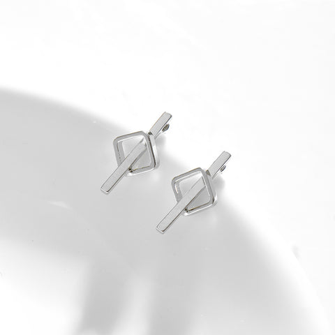 Image of Indira Geometric Small Stud Earrings