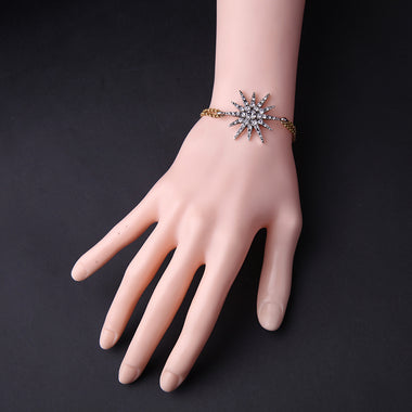 Fashion Simple Crystal Star Women Bracelet Summer Costume Jewelry New Brand Charming Bracelet