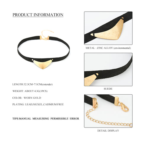 Image of Charlotte Punk Black Suede Choker Necklace