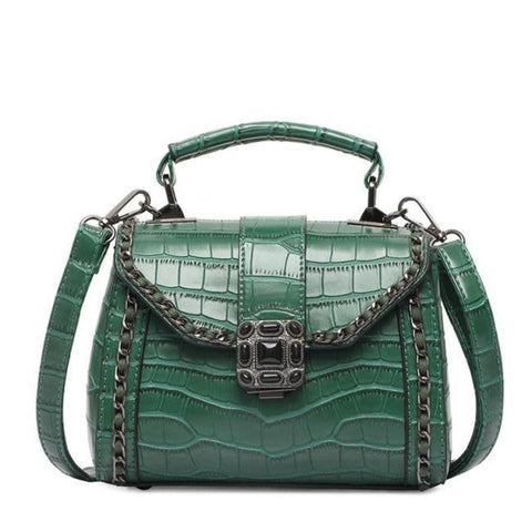 Niah Alligator Messenger Handbag