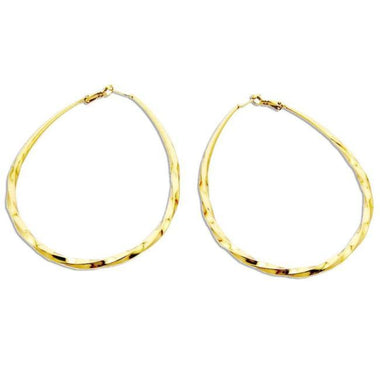 Gia Big Alloy Hoop Earrings