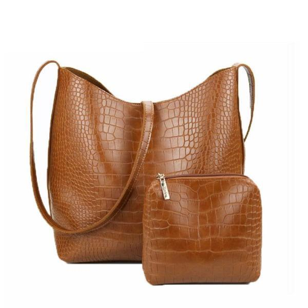Bean PU Leather Large Shoulder Handbag