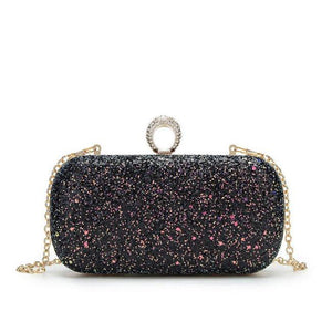 Landri Multi-Colored Glitter Clutch