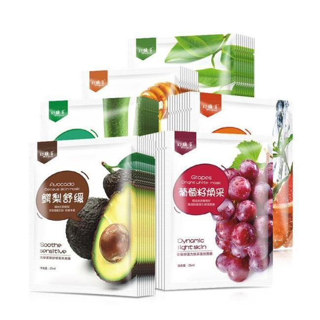 13 Pcs Mixed Cartoon, Plant and  Fruit Deep Moisture Face Mask