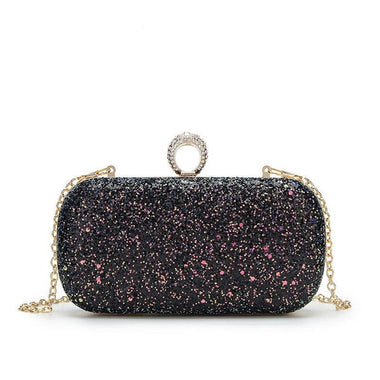 Milania Multi-Colored Glitter Clutch