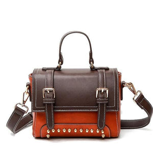 Florence Paneled Vintage PU Leather Shoulder Handbag