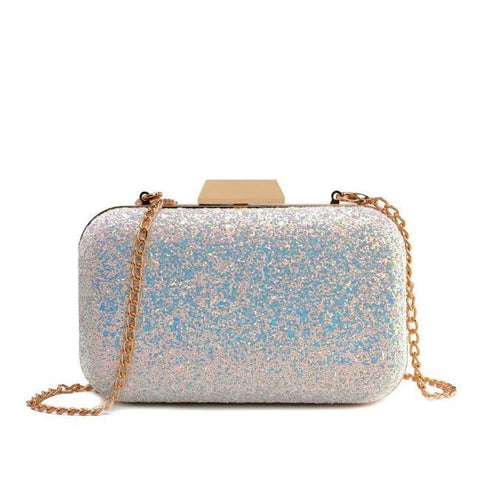 Raquel Beaded Party Floral Clutch With Chain