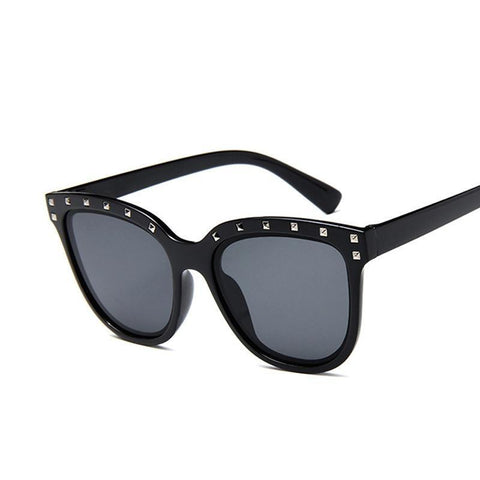 I'm Here Cat Eye Crystals Sunglasses