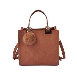 Salomee Vintage Scrub PU Leather Handbag
