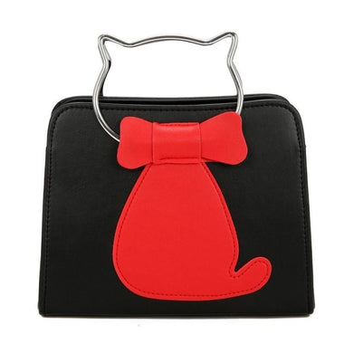 Fien Cute Cartoon Cat Printed Handbag