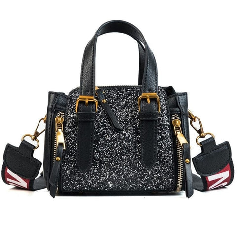 Freidne Flap Double Zipper Handbag