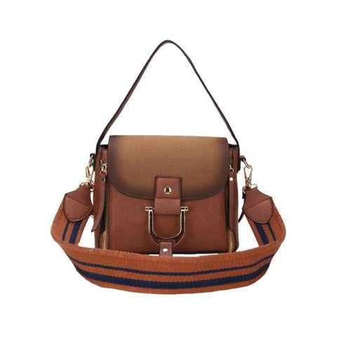 Syrine Solid Pu Leather Handbag