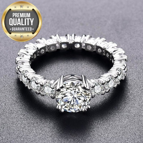 Women's White Gold Color Engagement Rings For Women White AAA Zircon Jewelry Fashion Women Wedding Ring Size 5-12 H373