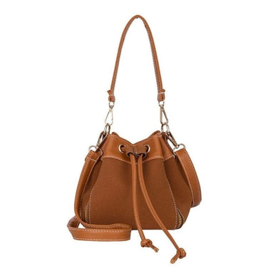 Loralie PU Leather String Small Crossbody Handbag