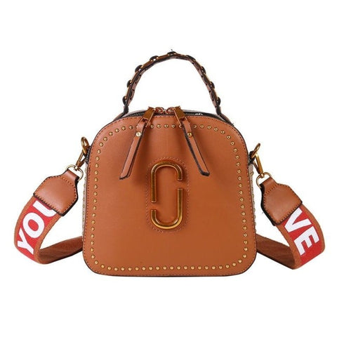 Odete Rivet Soft PU Leather Handbag