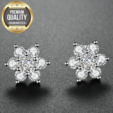 Women's White Gold Color Cross Trendy Earrings Cute AAA Cubic Zircon Engagement Jewelry Earring for Women Top Quality E123