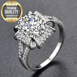 Women's White Gold Color Rings for Women Engagement Wedding white AAA Zircon Jewelry Bague Bijoux Size 6 7 8 9 H657