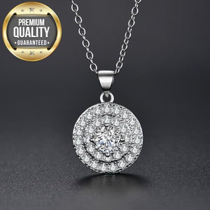 Baylye Round Clear Pendant Necklace