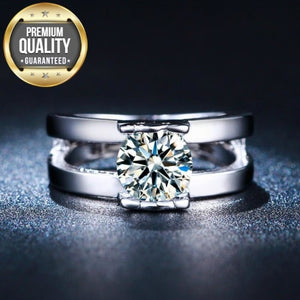 Women's White Gold-Color Wedding Rings for Women Inlaid AAA Zircon Jewelry Fashion Engagement Bijoux Bague Size 6 7 8 MSR230