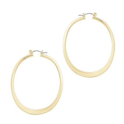 Image of High Quality Big Round Hoop Earrings Classic Shiny Gold Silver European Hoop Earring Jewelry For Women Party Gift