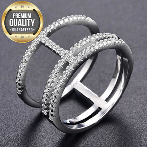 Women's White Gold Color Rings for Women Fashion AAA Zircon Jewelry wedding women Rings for engagement bijoux ring Bague MSR423