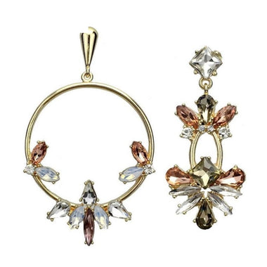 Lipa Crystal Asymmetric Flower Earrings