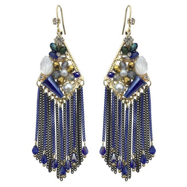 Foltar Crystal Tassel Earrings