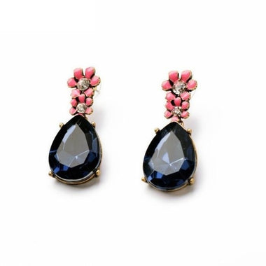 2017 Statement Jewelry Fashion Classic Blue Resin Water Drop Earrings Factory Wholesale