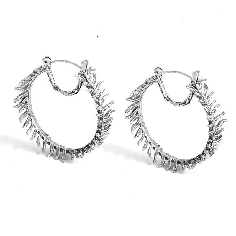 938794076 Ruhi Leaf Hoop Earrings – BeautyRun -WANT.NEED.GET