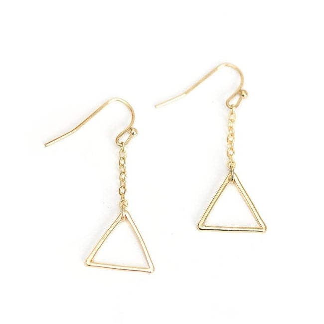 Priti Triangle Dangle Earrings
