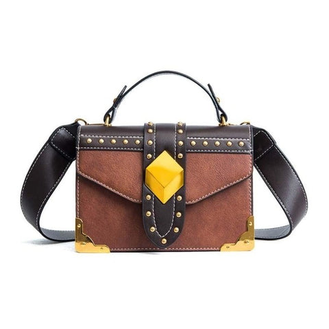 Gratien PU Leather Metal Lock Handbag