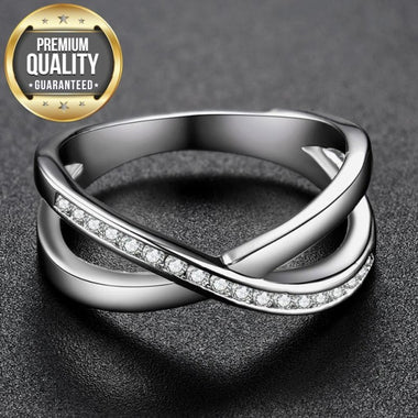 Women's White Gold & Rose Color Round AAA Zircon Wedding Rings for Women Wedding Jewelry accessories Bague Bijoux Size 6-9 H1428