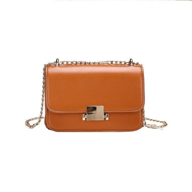 Galatee PU Leather Chains Crossbody Handbag