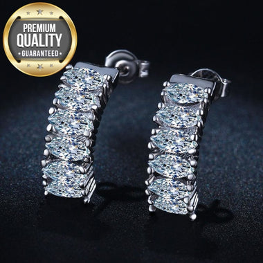 Women's White Gold Color Earrings For Women Jewelry AAA Zircon Wedding Brincos Engagement Boucle D'oreille MSE034