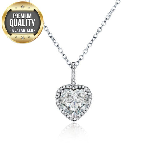 Avignon Heart AAA Zircon Necklace