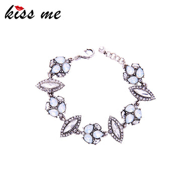 Brand Geometric Crystal Bracelet Female 2018 Popular Charm Bracelets for Women Party Jewelry Dropshipping