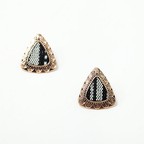 Image of Alouette Triangle Stud Earrings