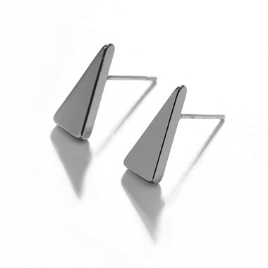 Women Trendy 3 Colors Triangular Stud Earrings For Women Men Fashion Geometric Earrings Jewelry Brincos Female Unisex Party Gift
