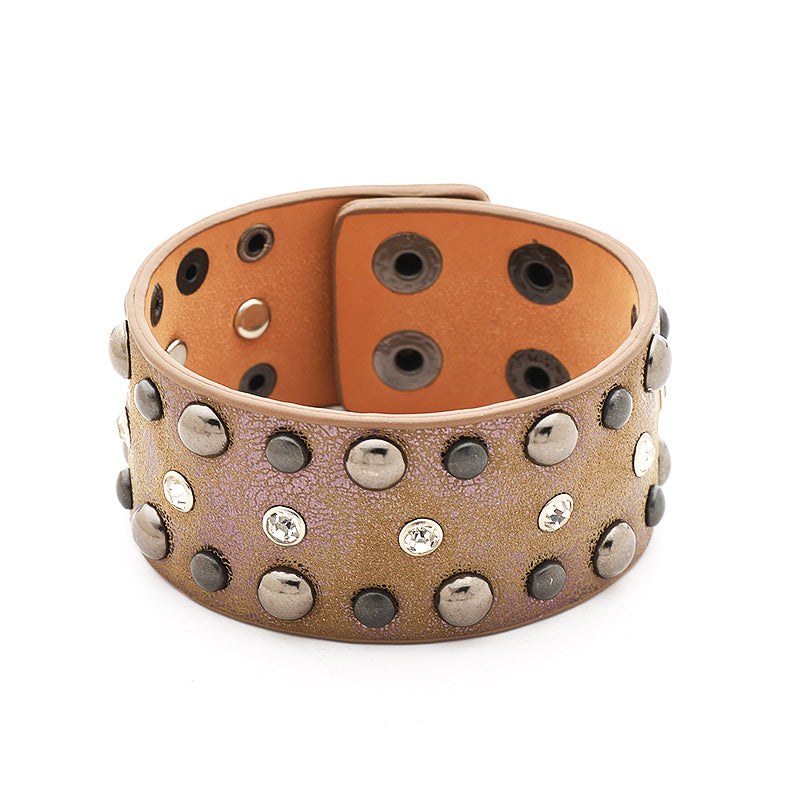 Esperanza Wide PU Leather Bracelet