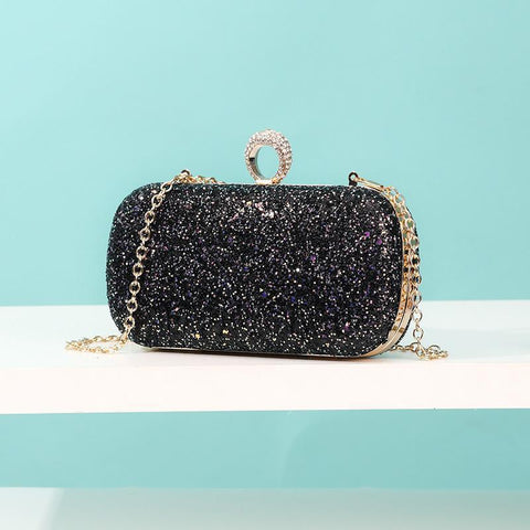Image of Landri Multi-Colored Glitter Clutch