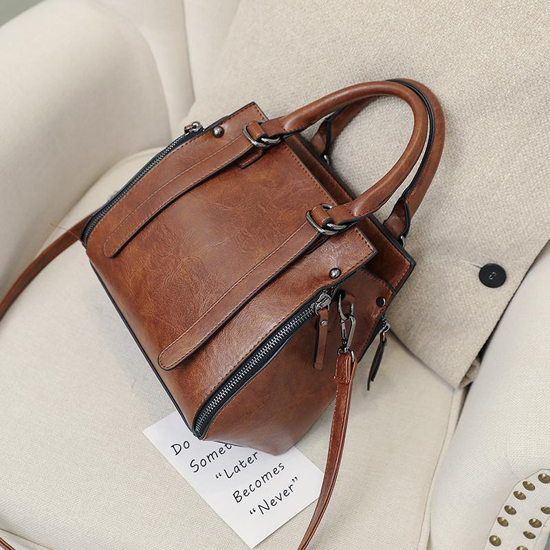 Karley Retro Leather Shoulder Handbag