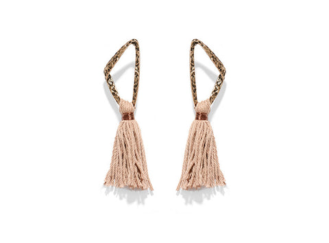 Image of Bambalina Cotton Tassel Earrings