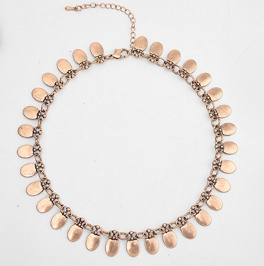 Mohini Oval Metal Necklace
