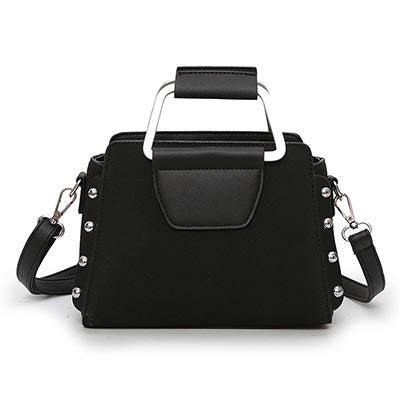 Fran Scrub PU Leather Metal Handle Handbag
