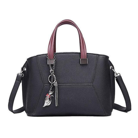 Image of Kassandra Leather Shoulder Portable Handbag