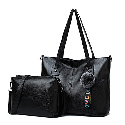 Bidu Fur Ball Crossbody Handbag