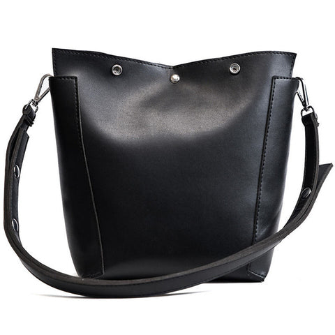 Madalen Pu Leather Bucket Handbag